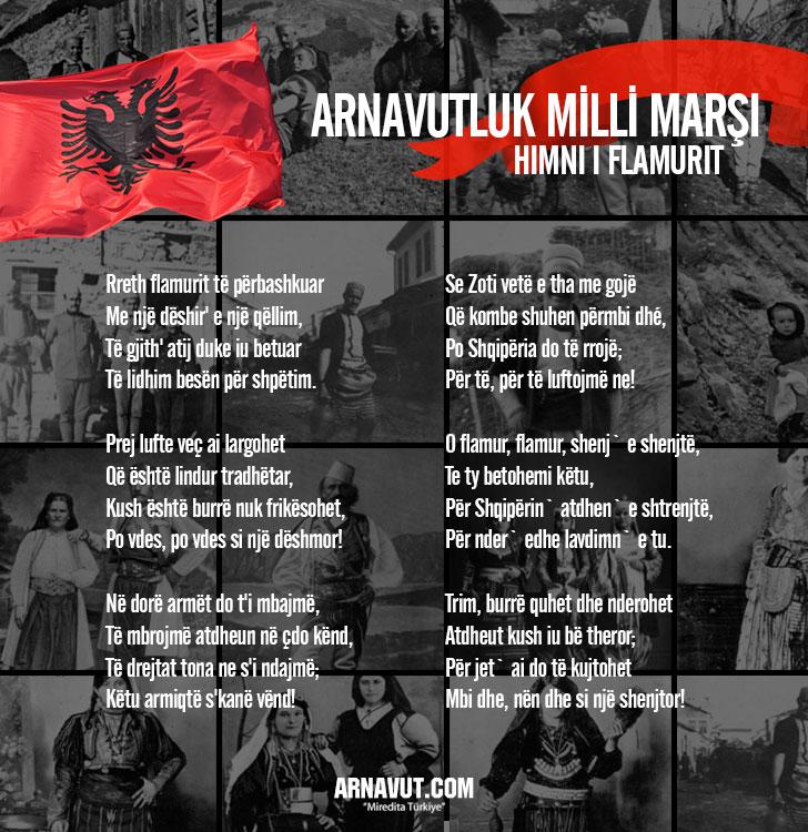 Arnavutluk milli marşının sözleri