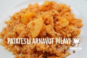 Patatesli Arnavut pilavı resmi