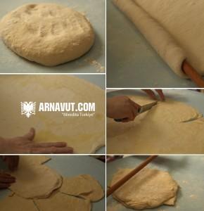 Pırpeç böreği hamurunun hazırlanışı resmi
