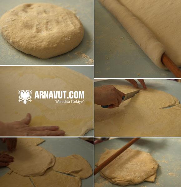 Arnavut böreği hamurunun hazırlanışı resmi