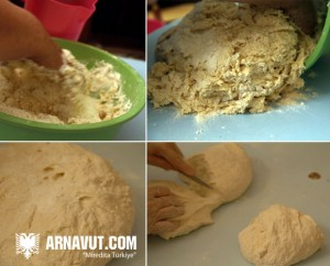 Arnavut Böreği hamurunun hazırlanması resmi